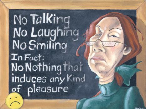 Mean teacher painting