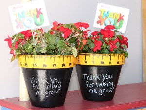 "Teacher gift plants ""Thanks for helping me grow"""