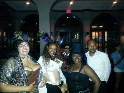 Some friends and me at the Steampunk Brass Ball, held at Zimm's Martini Bar, Houston, TX.