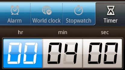 4 minute timer