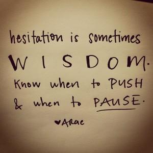 hesitation