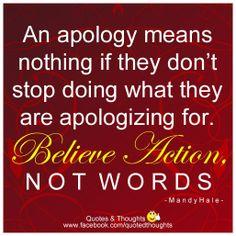 empty apologies
