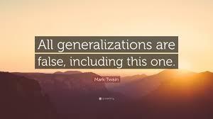 generalizations