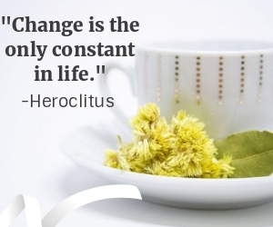 """Change is the only constant in life."" -Heroclitus"